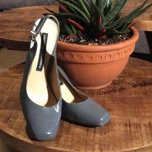 Chinese Laundry Grey Patent Slingback Heel